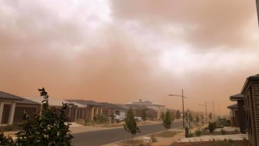 The dust hovering over Melton, in the city's west.