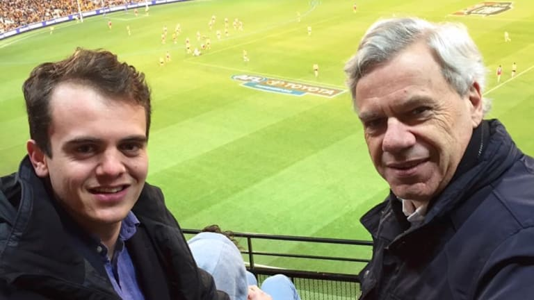 Liberal Party Victorian president Michael Kroger and vice-president Marcus Bastiaan.