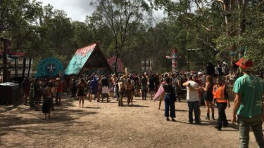 An image of this year's Rabbits Eat Lettuce music festival, held near Warwick in southern Queensland.