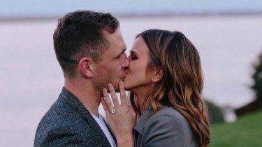 Cats captain Joel Selwood is engaged to long-time girlfriend Brit Davis.