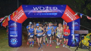 The World Marathon Challenge took place on Saturday night in Perth.