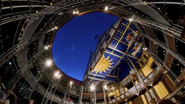 Modern twist: The new Globe Theatre.