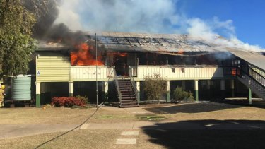 The fire destroyed Warwick East State School's A block on Friday, July 19, in Queensland.