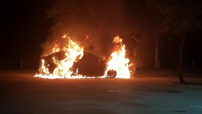 Police investigate car fire at notorious crime hotspot in Perth's north