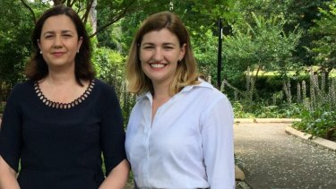 Minister Shannon Fentiman  (pictured right, with Premier Annastacia Palaszczuk) said falling student numbers and profit drops were due to federal government cuts.
