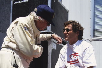 Dr Sid Watkins with the late racing car driver Ayrton Senna in a still from the documentary on Senna's life.