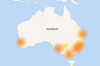 The Down Detector website at 6.30pm.
