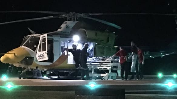 Whitsundays shark victim winched off boat with serious injuries