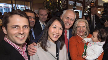 Alex Turnbull (left) with wife Yvonne, daughter Isla and parents Malcolm and Lucy Turnbull.
