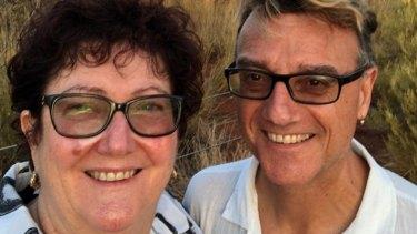 Tragic loss: Gayle Gibson and husband Tony Giorgio.