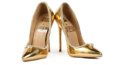 7b08f325271 The Passion Diamond Shoes are stilettos made from real gold