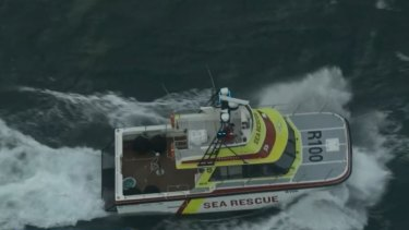 Authorities are responding to reports a man falling overboard from a yacht off the coast of Cockburn.