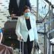 Queensland Premier Annastacia Palaszczuk and Brisbane Lord Mayor Adrian Shrinner arrive at Brisbane airport on Sunday.