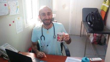 Red Cross worker Salah Raya in South Sudan.