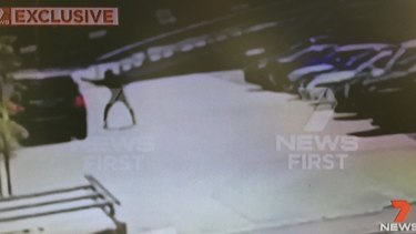 Footage shows the balaclava-clad gunman firing a barrage of bullets into the driver's side window of Hawi's car.