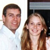 Prince Andrew with the then-Virginia Giuffre in 2001.