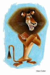 The exhibition delves into the creation of hit movies such as Madagascar (2005) illustrated by Craig Kellman.