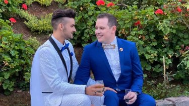 Jay and Jayden Bingle-Brown wed in October.