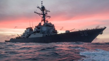 The USS John S McCain.