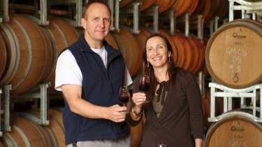 Keith and Clare Mugford from Moss Wood, in the Wilyabrup sub-region, which won best cabernet.