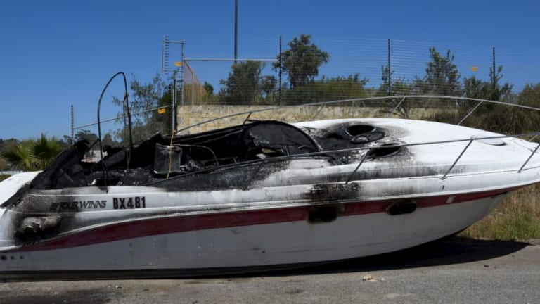 The boat suffered $100,000 damage.