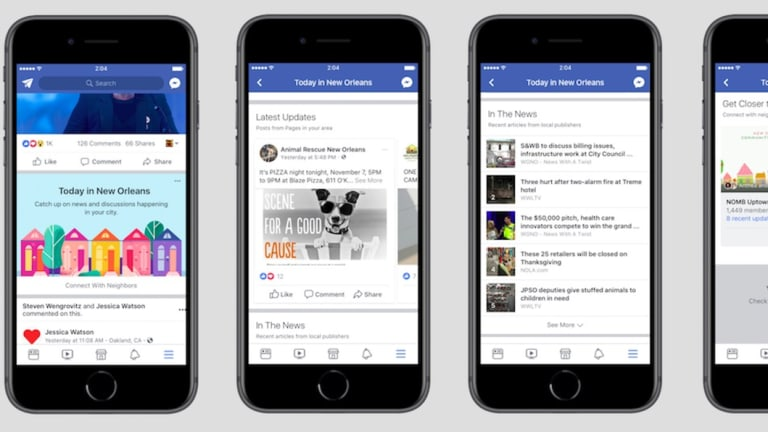 Facebook has launched its feature 'Today in' in 10 Australian cities.