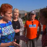 Pauline Hanson clashes with Labor's Anne Aly on Perth campaign trail