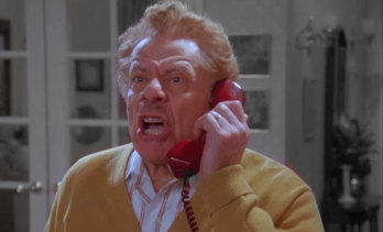 Bah humbug! Jerry Stiller as Frank Costanza, who preferred Festivus - a festival of grievance - to Christmas.