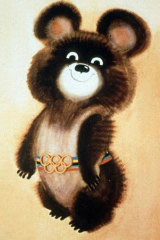 Misha Bear, mascot of the 1980 Moscow Olympic Games.