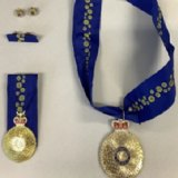The replica awards seized by police fromNeville Gentry's home in Greenslopes in Brisbane's south.