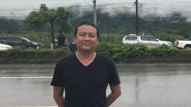 Our fixer/translator and driver, Akkarawat 'Art' Taokwang - we couldn't have covered this story without him.