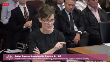 Senior counsel assisting the Hayne royal commission.