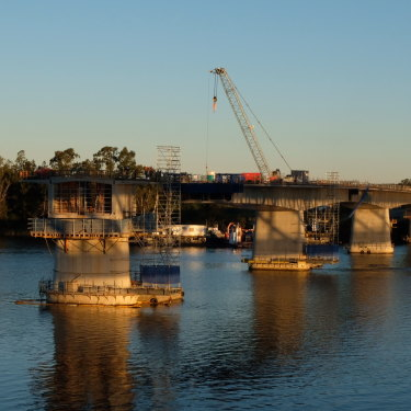 The new bridge being built over the Clarence River at Grafton is a state government project, but for some locals is still a signal that politicians are doing something.