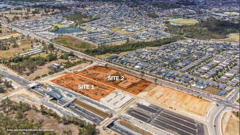 The site where Tallawong Station south will be built in Rouse Hill