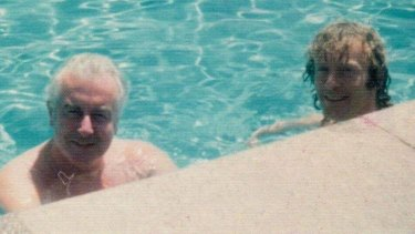 """Comrade, I have never been to a place anything like that"" ... Gough Whitlam with the author, his then staffer Richard Whitington,  pictured here on his 27th birthday in Cairo, Egypt, during their six-week tour in 1976."