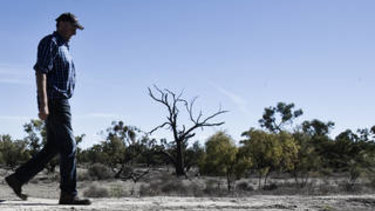 The Darling River has suffered from excessive upstream irrigation, pastoralists such as Rob McBride says.