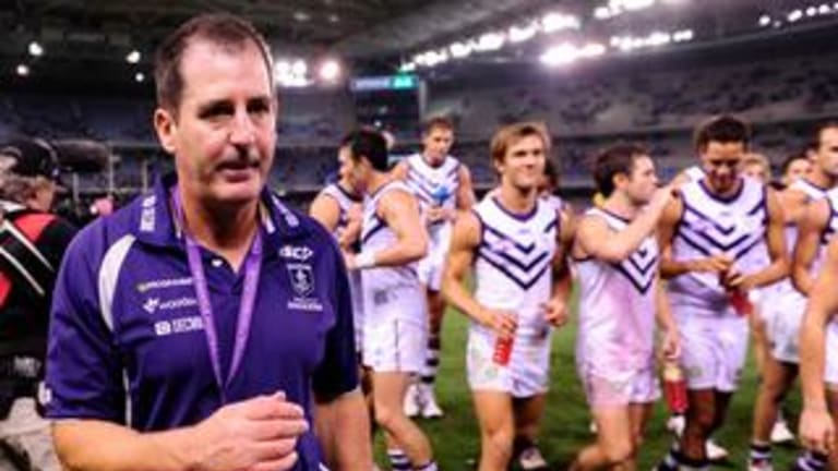 Fremantle coach Ross Lyon has his team working on quicker ball movement in 2018.