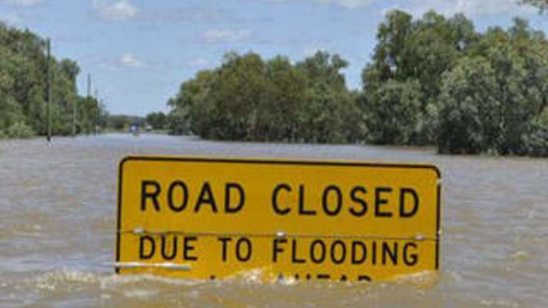 In towns cut off by flooding, food and water supplies might have to come by air or by water.