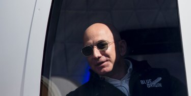 The highest bidder can come along: Amazon billionaire Jeff Bezos is auctioning off a trip on his space rocket.