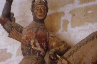 St George statue before restoration.