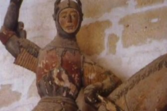 St George statue before restoration.