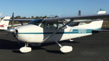 The aircraft which crashed off Moreton Island - a Cessna 182 plane with registration number VH-WNR.
