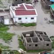 An aerial view of the flooding in Beira, Mozambique. The Red Cross says that as much as 90 per cent of Mozambique's central port city of Beira has been damaged or destroyed by tropical Cyclone Idai.