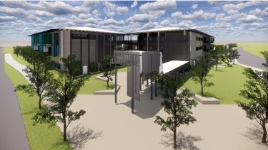 The concept for a new school at Caloundra South, announced by Education Queensland.