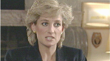 Princess Diana on the BBC's Panorama program in London, November 1995.