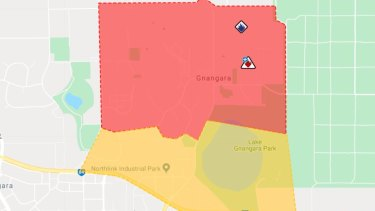 The affected area in Gnangara.