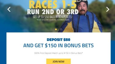 Free bet offers to sign up to gambling websites are illegal in NSW unless they are on a racing website.