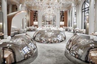 Alain Ducasse's flagship restaurant at Paris' Plaza Athenee.