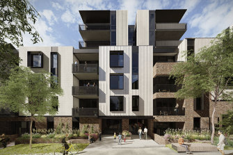 An artist's impression of the Bills Street project with 206 units.