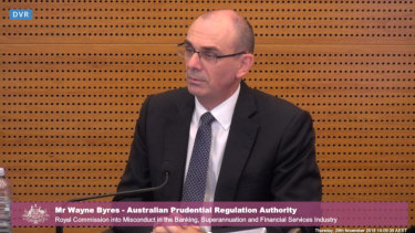 Wayne Byres says the banking regulator has started to look more into conduct issues.